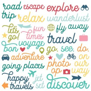 Simple Stories - Going Places - Foam Stickers